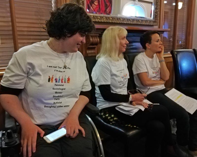 Henrietta Bollinger, Mandy Hager and Paula Tesoriero